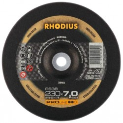 Rhodius RS38 PRO 230 × 7,0 × 22,23 tarcza do szlifowania metalu