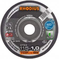 Rhodius XT24 TOP 125x1,0 tarcza do cięcia aluminium