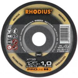 Rhodius XT38 PRO 125x1,0 tarcza do cięcia stali