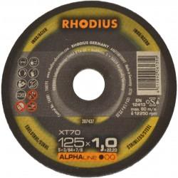 Rhodius XT70 125x1,0 tarcza do cięcia metalu inox