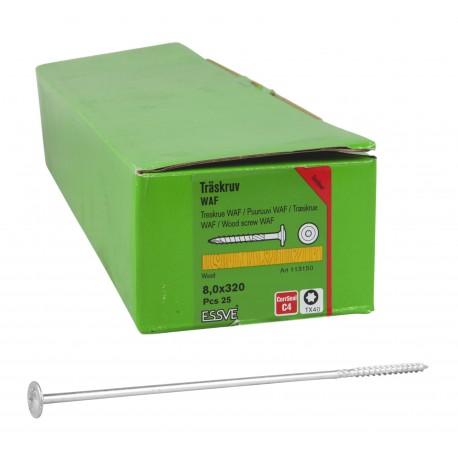 ESSVE 8,0 x 320 mm wkręty WAF do drewna corrseal 25 szt