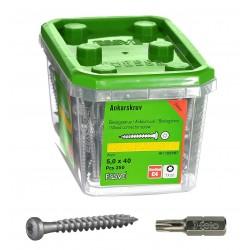 ESSVE 5,0 x 40 mm 250szt zestaw wkrętów do okuć ciesielskich