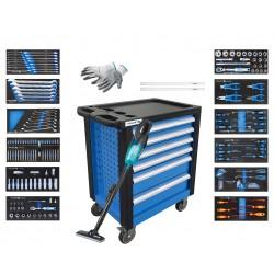 Hogert wózek narzędziowy 6 szuflad 171 elementów