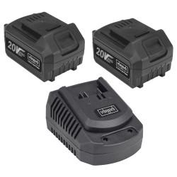 Scheppach ładowarka + 2x akumulator 4Ah