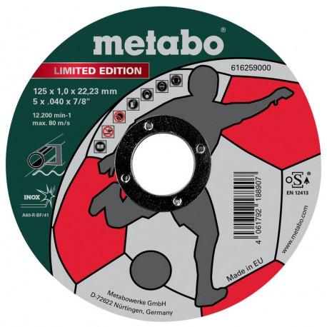 Metabo tarcza tnąca INOX do stali 125x1x22,2