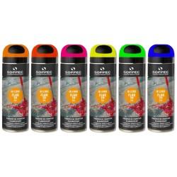 Soppec TP Fluo 24szt spray farba geodezyjna