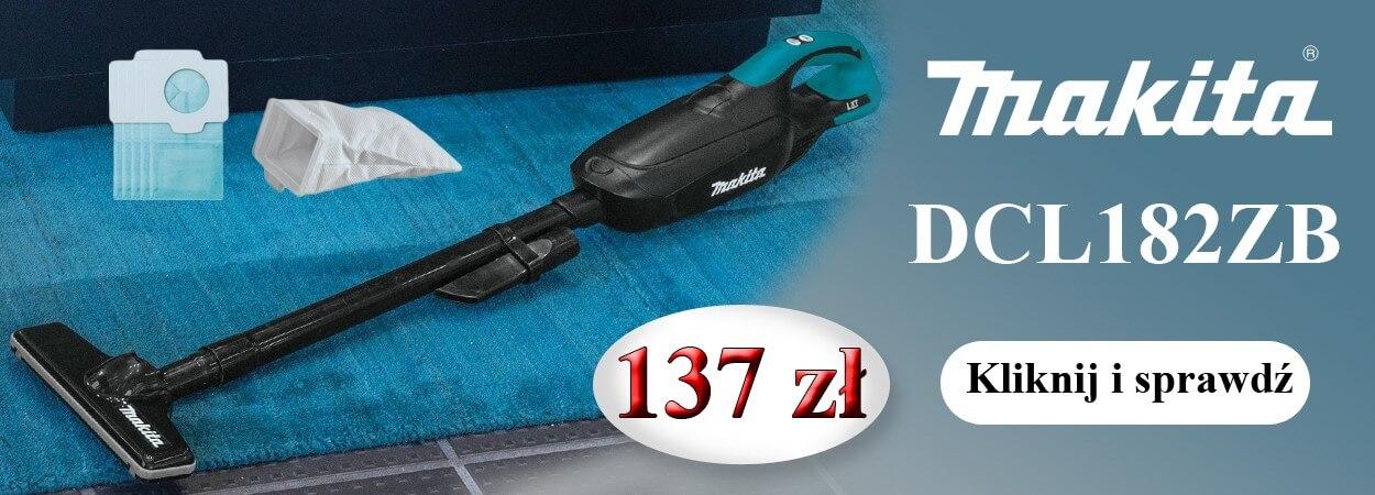 Makita DCL182ZB odkurzacz akumulatorowy 18V - Promocja
