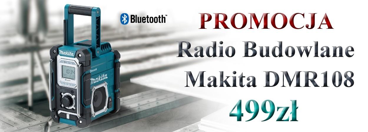 PROMOCJA - Makita DMR108 radio budowlane Bluetooth